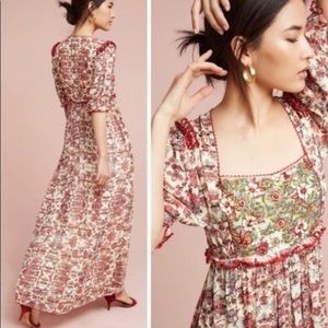 Maxi Dress with embroidery & sequins